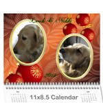 Leah and Nikki 2013 - Wall Calendar 11  x 8.5  (12-Months)