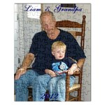 liam and grampa puzzle 2 - Jigsaw Puzzle (Rectangular)