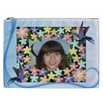 flower and humming bird cosmetic Bag (XXL) 2 sides