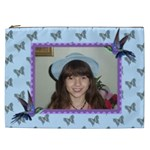 Butterflies and humming birds cosmetic Bag (XXL) 2 sides