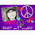 Peace & Love Birthday Invitation - 5  x 7  Photo Cards