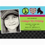 Roller Skate Birthday Invitation - 5  x 7  Photo Cards