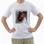 Never say Never - Men s T-Shirt (White) (Two Sided)