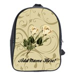 Cream Rose Personalized Backpack - School Bag (Large)