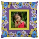 Precious Poppy Large Cushion Case - Large Cushion Case (One Side)