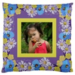 Precious Poppy Large Cushion Case (2 sided) - Large Cushion Case (Two Sides)