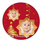 xmas - Collage Round Mousepad
