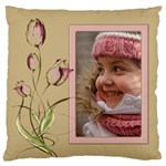 Tulip in Pink Large Cushion Case - Large Cushion Case (One Side)