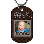 Happy Dog Tag (One Side)