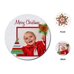 xmas - Playing Cards Single Design (Round)