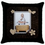 Pretty Brown Throw Pillow Case - Throw Pillow Case (Black)