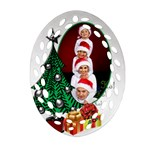 Christmas Filigree Ornament (2 sided) - Oval Filigree Ornament (Two Sides)