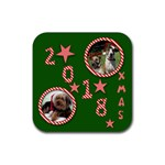 2018 Christmas Coaster - Rubber Coaster (Square)