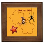 trick or treat - Framed Tile