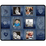 Denim Look Medium Fleece Blanket - Fleece Blanket (Medium)