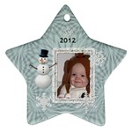 2012 Winter Star Ornament (2 Sides) - Star Ornament (Two Sides)