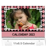Pink Check Wall Calendar (any Year) 2019 - Wall Calendar 11  x 8.5  (12-Months)