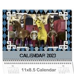 Blue Check Wall Calendar (any Year) 2019 - Wall Calendar 11  x 8.5  (12-Months)