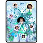 Precious Petals XL Teal Blanket - Fleece Blanket (Large)