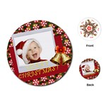 merry christmas - Playing Cards Single Design (Round)