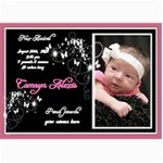 7x5 birth announcement photo card - 5  x 7  Photo Cards
