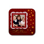 merry christmas - Rubber Coaster (Square)