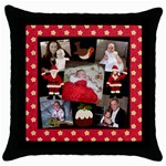 Heart Felt Christmas cushion - Throw Pillow Case (Black)