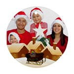 Christmas Family Round Ornament - Ornament (Round)