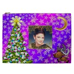 Purple Varigated Starry Christmas Cosmetic Bag (XXL)