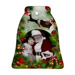 Santa Bell Ornament (2 Sided) - Bell Ornament (Two Sides)