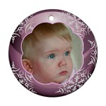 Pink Christmas Ball Ornament round - Ornament (Round)