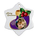Stocking Christmas Snowflake Ornament (2 Sided) - Snowflake Ornament (Two Sides)
