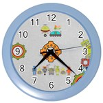 Robot clock Yasen - Color Wall Clock