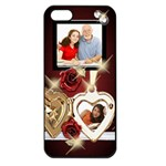 Red Roses bling iPhone 5 Case - iPhone 5 Seamless Case (Black)