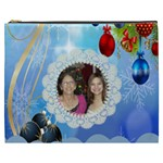 snow flakes and ornament cosmetic bag (XXXL)