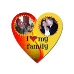 I love my family red and gold heart magnet - Magnet (Heart)