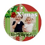 merry christmas, happy new year, xmas - Ornament (Round)