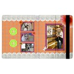 Orange Frill Apple iPad 2  Flip Case - Apple iPad 2 Flip Case