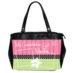 Grandchildren light up my life office bag - Oversize Office Handbag (2 Sides)