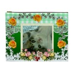 green with yellow roses Cosmetic Bag (XL)