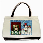 snowman family claasic tote - Basic Tote Bag