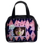 Little Girl-navypink Classic Handbag (Two Sides)