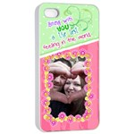 Being with you- Iphone 4/4s case - iPhone 4/4s Seamless Case (White)