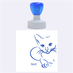 cat - Rubber Stamp Round (Large)
