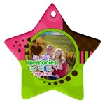 My Best Memories - Ornament - Star Ornament (Two Sides)