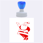 merry christmas - Rubber Stamp Round (Large)