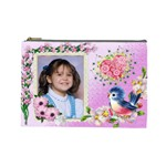 Happy blue Bird Cosmetic bag (large)