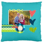 Playful Hearts - Large Cushion Case (Two Sides)