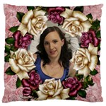 Roses and Lace 2 large Cushion Case (2 sided) - Large Cushion Case (Two Sides)