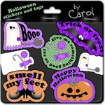 Halloween stickers and tags